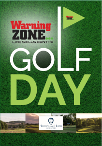 Warning Zone Golf Day